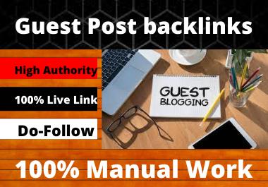 Write and publish 10 Guest Post Do-Follow 50 defferent websites unique article DA 80+