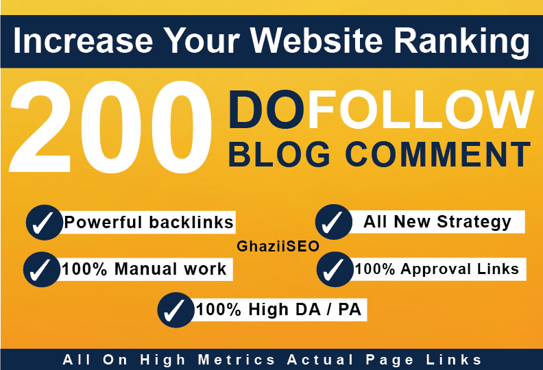 I will do 200 blog comments dofollow backlinks high da