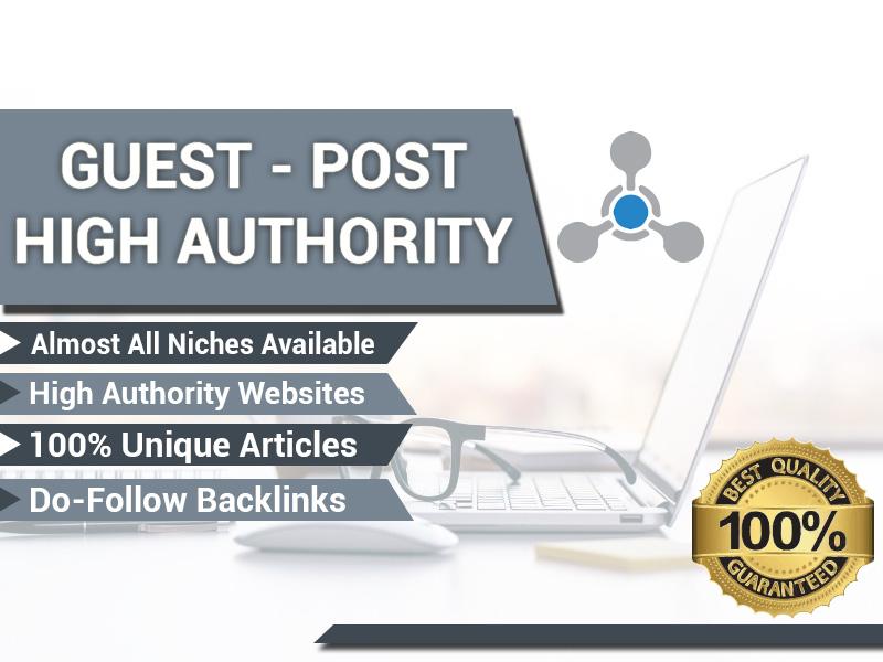 Provide 20 Dofollow Guest post High DA websites all Niche to Rank Higher