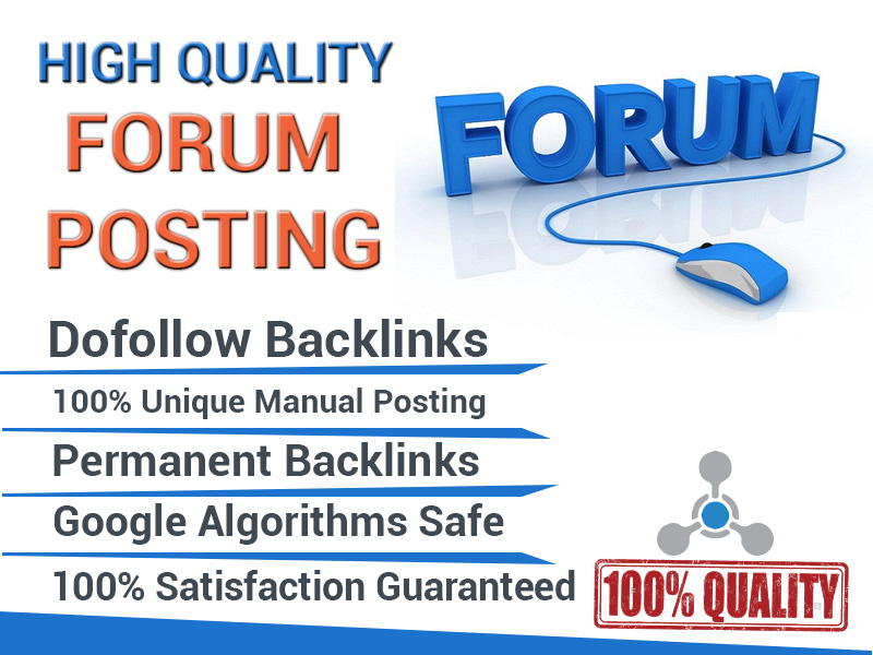 manually create 50 forum post backlinks for Your Website