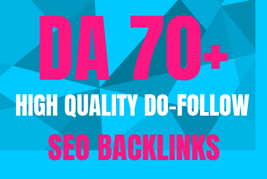 create 5 da70 high quality white hat seo dofollow backlinks