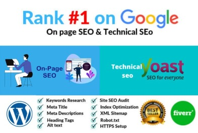 I will do wordpress ultra on page SEO and technical optimization 7 page