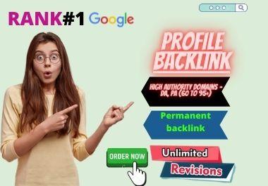 I will create 20 high authority do follow profile backlinks