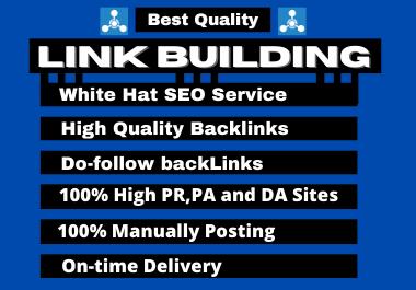 I will do High quality Dofollow backlinks SEO link building