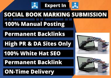 I Will Create 100 High PR Social Bookmarking Manually