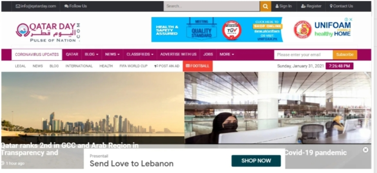 I will do guest post on qatarday. com