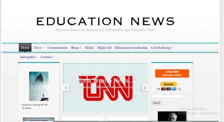 I will publish an Article on educationviews. org or abbascey. world. edu
