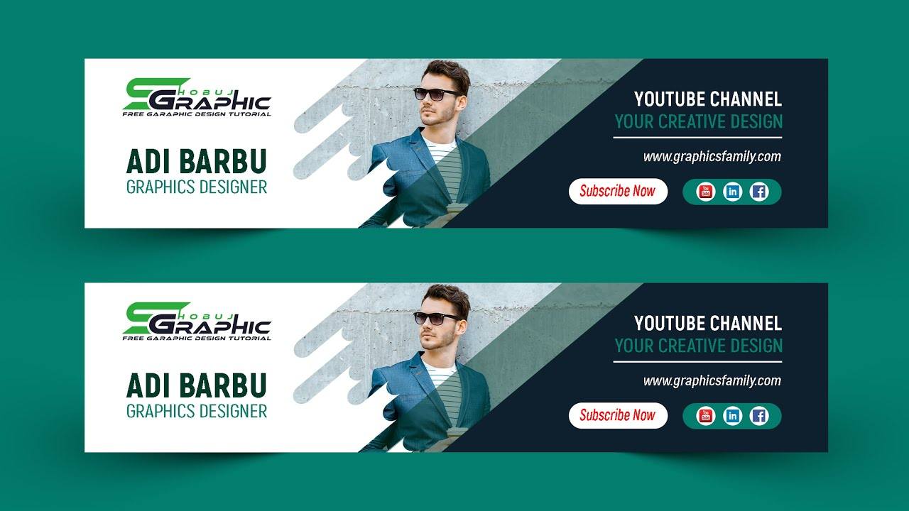 I will design a youtube banner for you