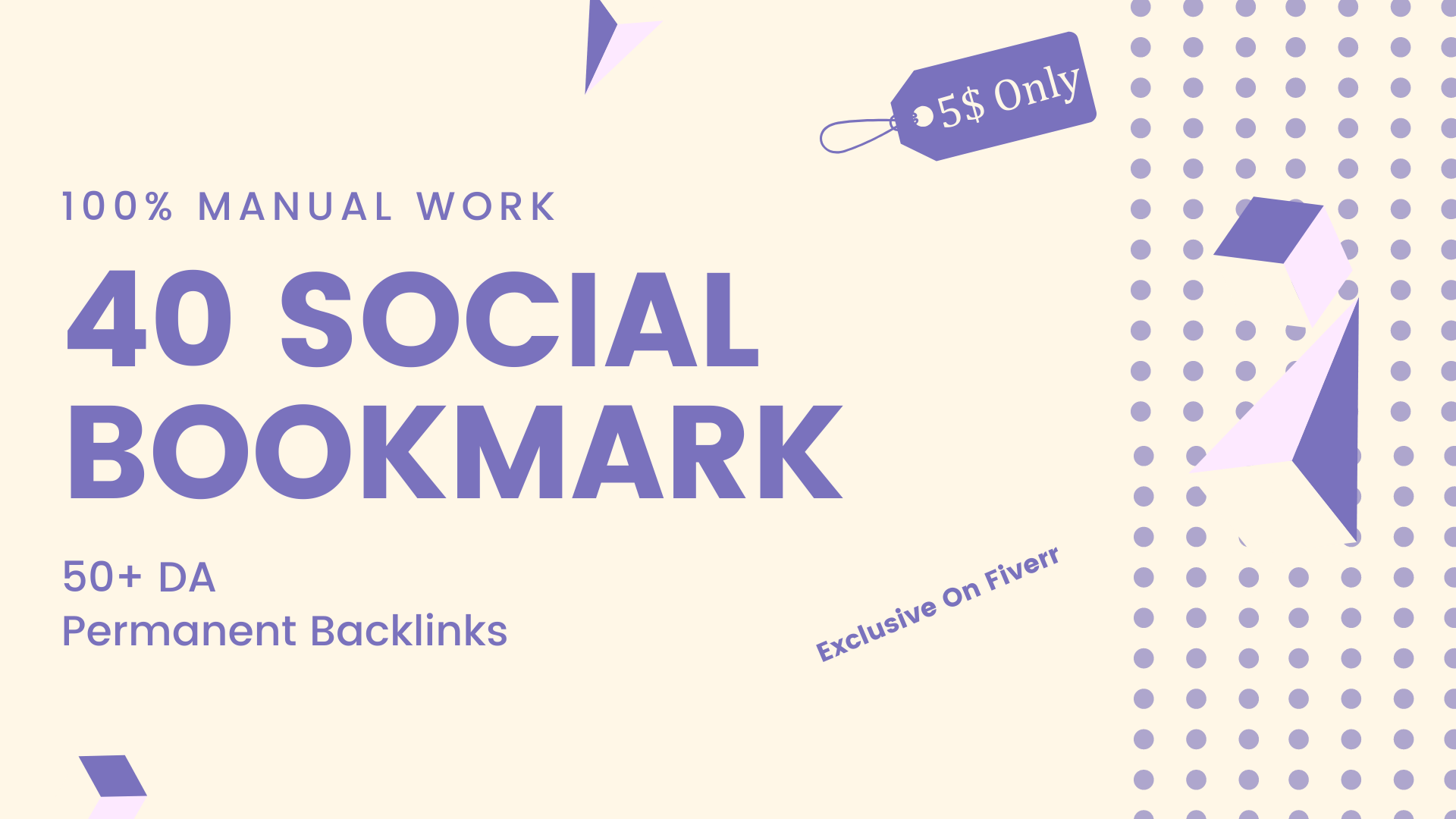 Social bookmarks on 40 high authority sites
