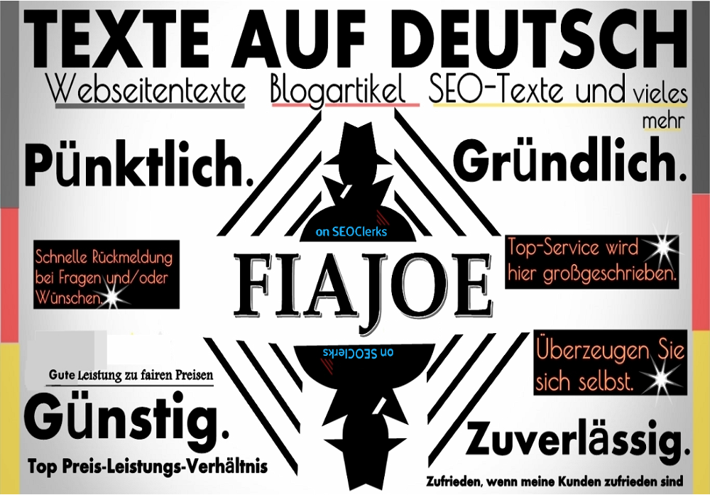 GERMAN WRITER - I will write you a german article,  german text,  seo text,  website content