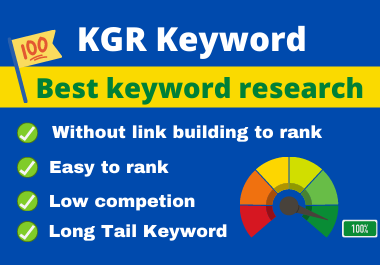 I wiil do Kgr keyword research for amazone niche site