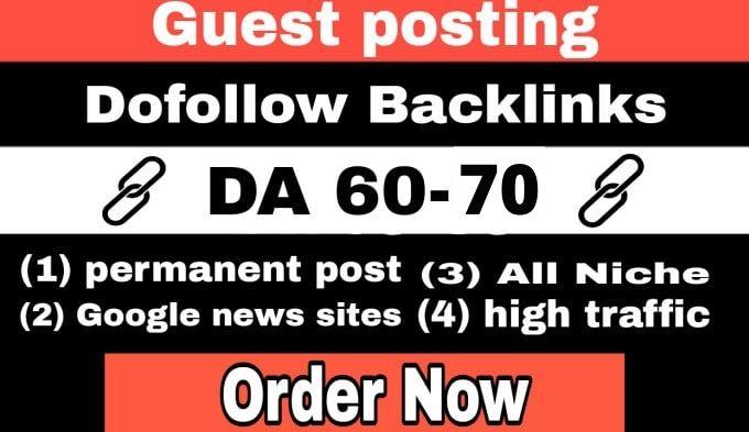 Publish guest post on high Da 70 dofollow permanent post