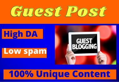 Write and publish 10 Guest Post High Authority unique content low spam score contextual backlinks