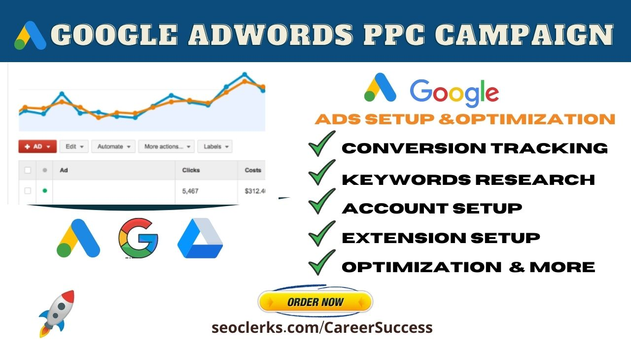 I will setup optimize and manage your google adwords ppc campaign