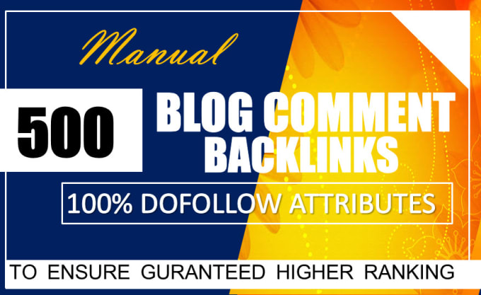 I will provide 500 seo dofollow blog comments backlinks with high da