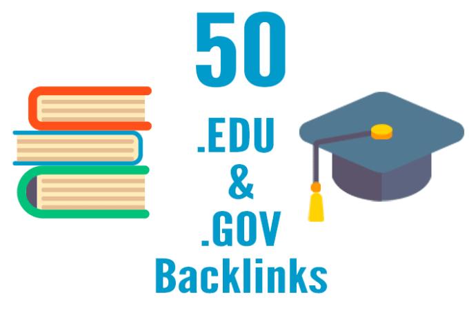 I will build 50 edu gov high authority SEO link building backlinks