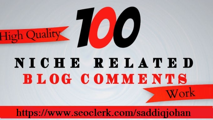 I will do 100 niche relevant blog comments high quality backlinks