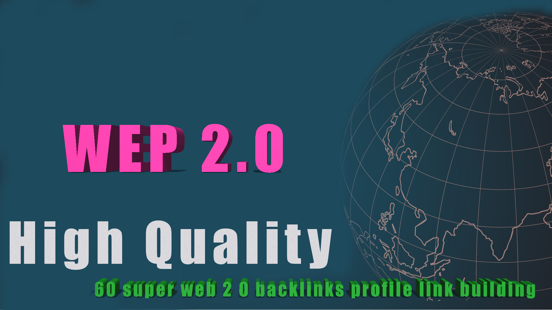 High quality 60 super web 2 0 backlinks profile link building