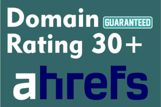 I Will Increase Domain Rating Dr 30 Plus In 30 Days