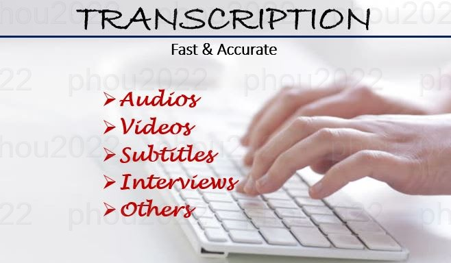 Provide High Quality Transcription of Audio or Video