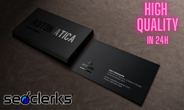 I will design amazing business card for you in 24H