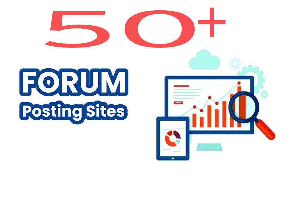I will creat 50+ posts on your forum and SEO powerful backlink building