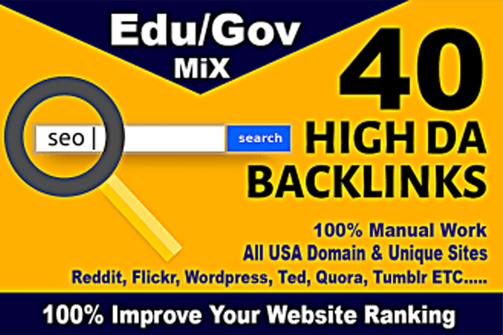 I will do 500+ edu,  gov sites manually