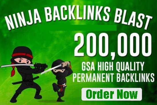 create 200,000 SEO backlinks for website ranking