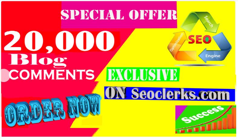 Blast Scrapebox 20,000 SEO Blog Comments Backlinks