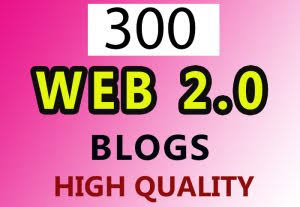 Manually 300 Web2.0 DA80+ Backlinks With High DA PA Domains Finest For Website Positioning