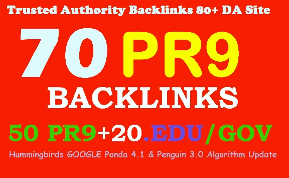 Top search Boost Your Google Ranking 70 back links 50 PR9+20 EDU/GOV 80+DA Manual & Safe SEO