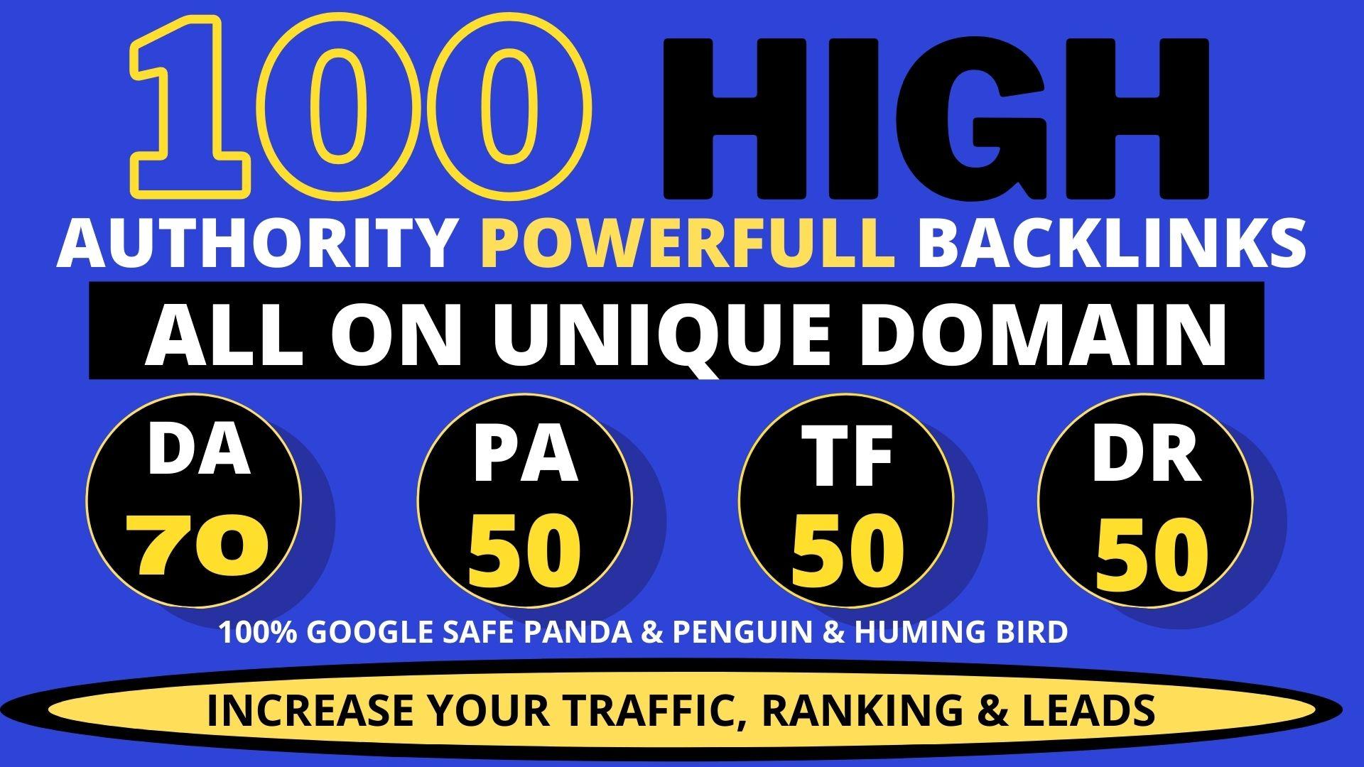 I will create 100+ high quality contextual dofollow seo Backlinks service