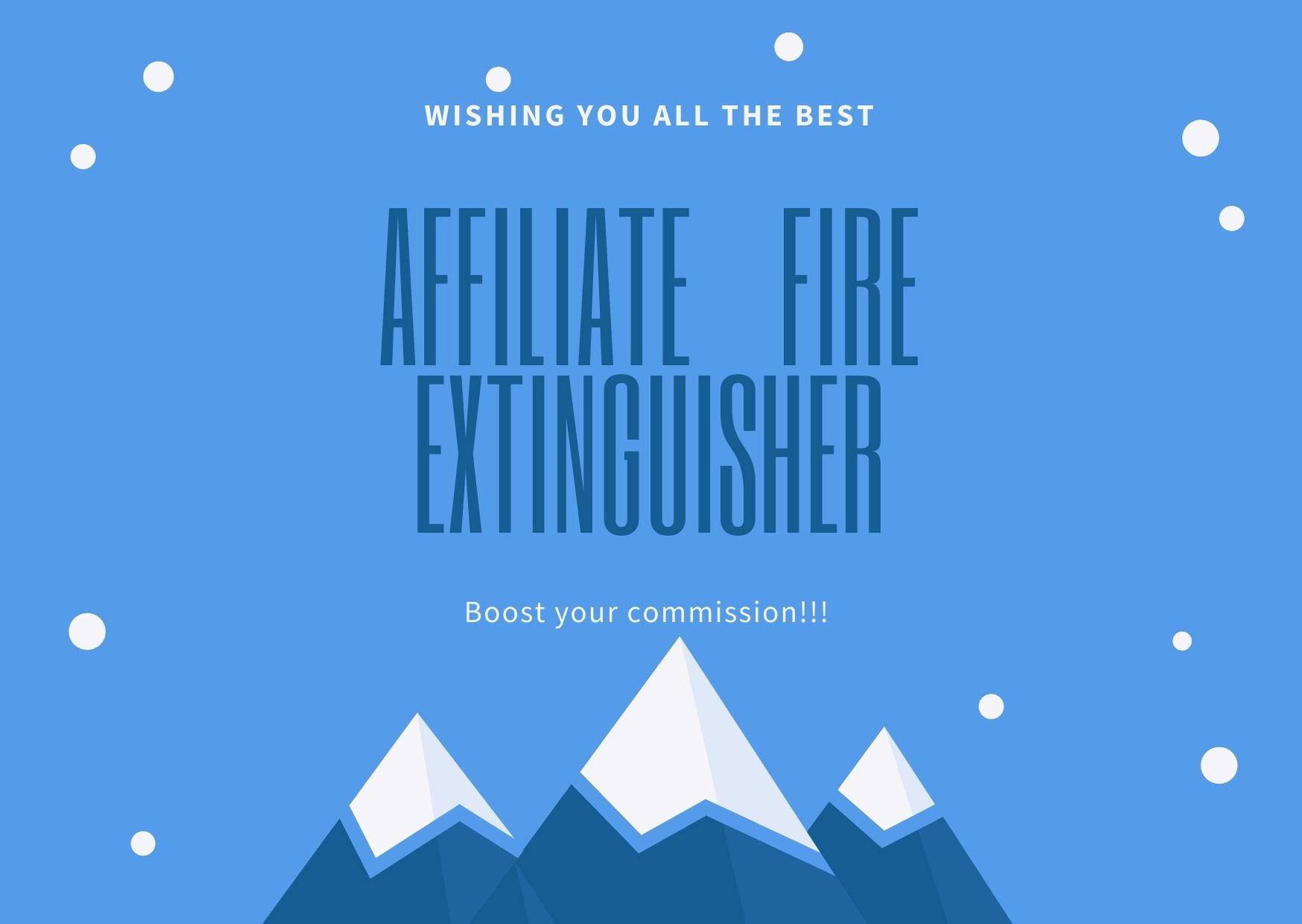 AFFILIATE FIRE EXTINGUISHER - boost your product sale and commission