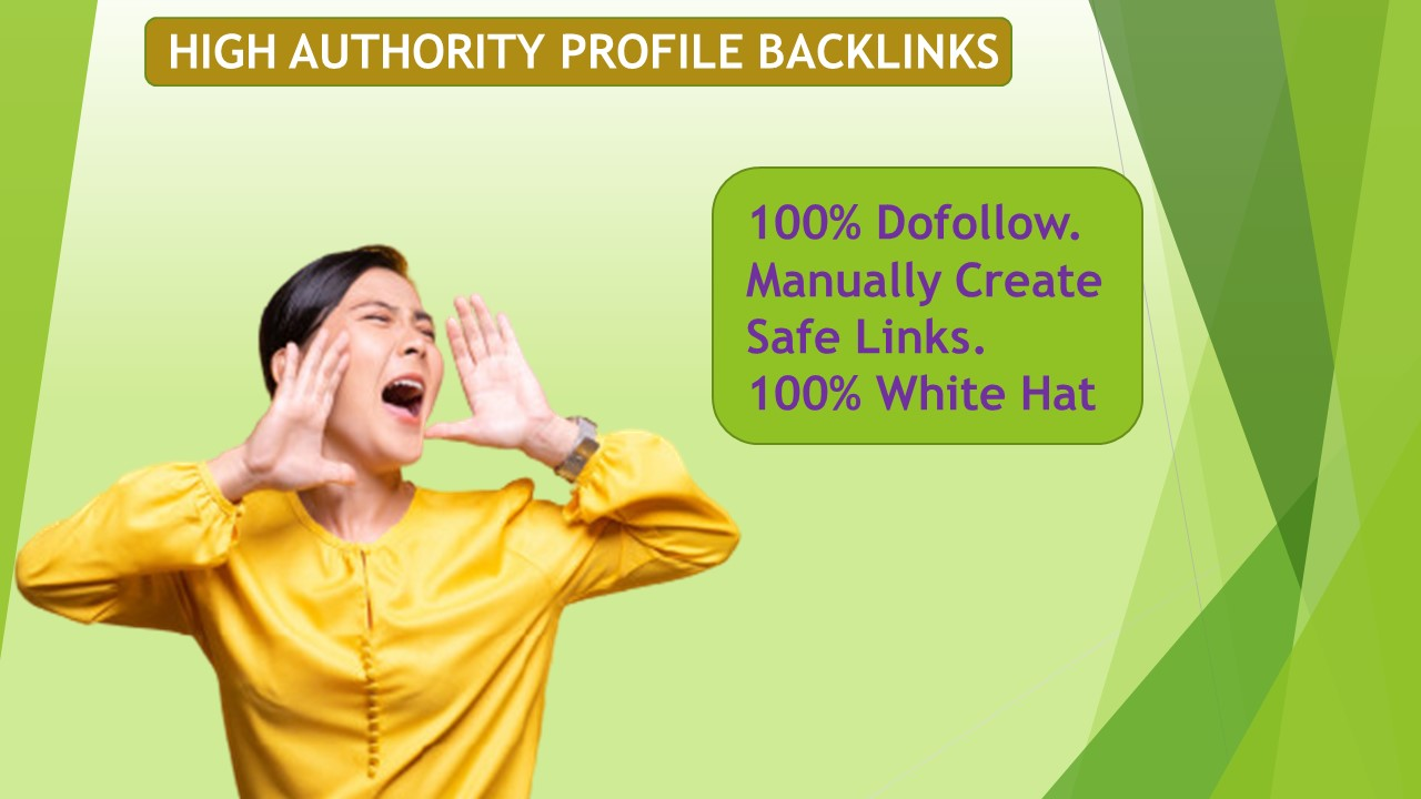 I will Provide powerful high authority 101 profile Backlinks for google ranking.