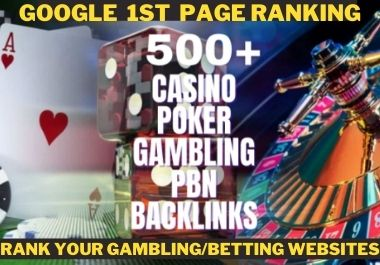 Rank your casino,  gambling,  judibola,  poker, related sites with unique backlinks