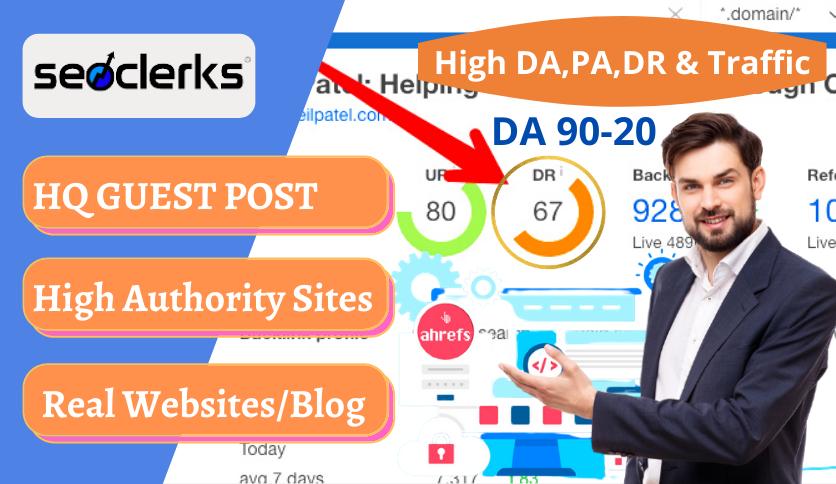 Publish 6 high DA PREMIUM NICHE Guest Post GUEST POST on DA 90-40+ sites in Your Niches