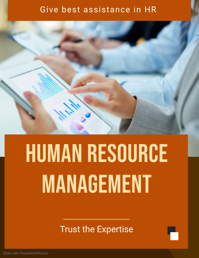 I will do human resource management work,  any human resource management writing