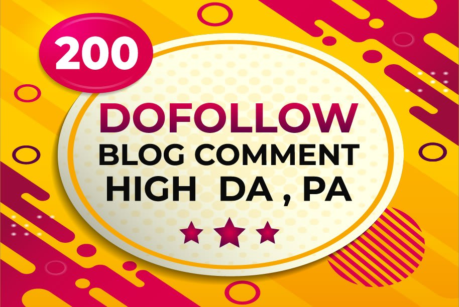I will provide 200 dofollow blog comments seo backlinks on high authority sites