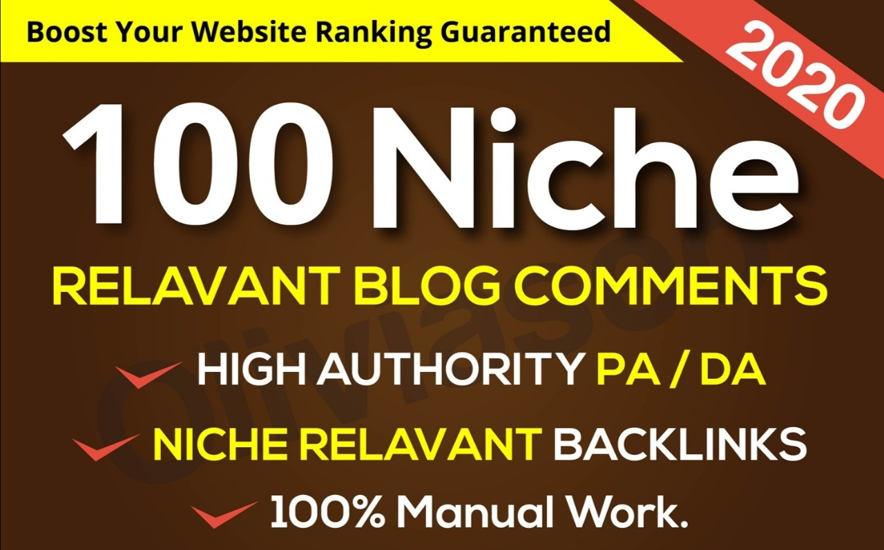 All Unique Niche Relevant Blog Comment Backlinks Manually With Low OBL