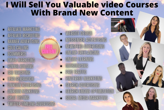 I WILL Sell your valuable video course for 24 topics