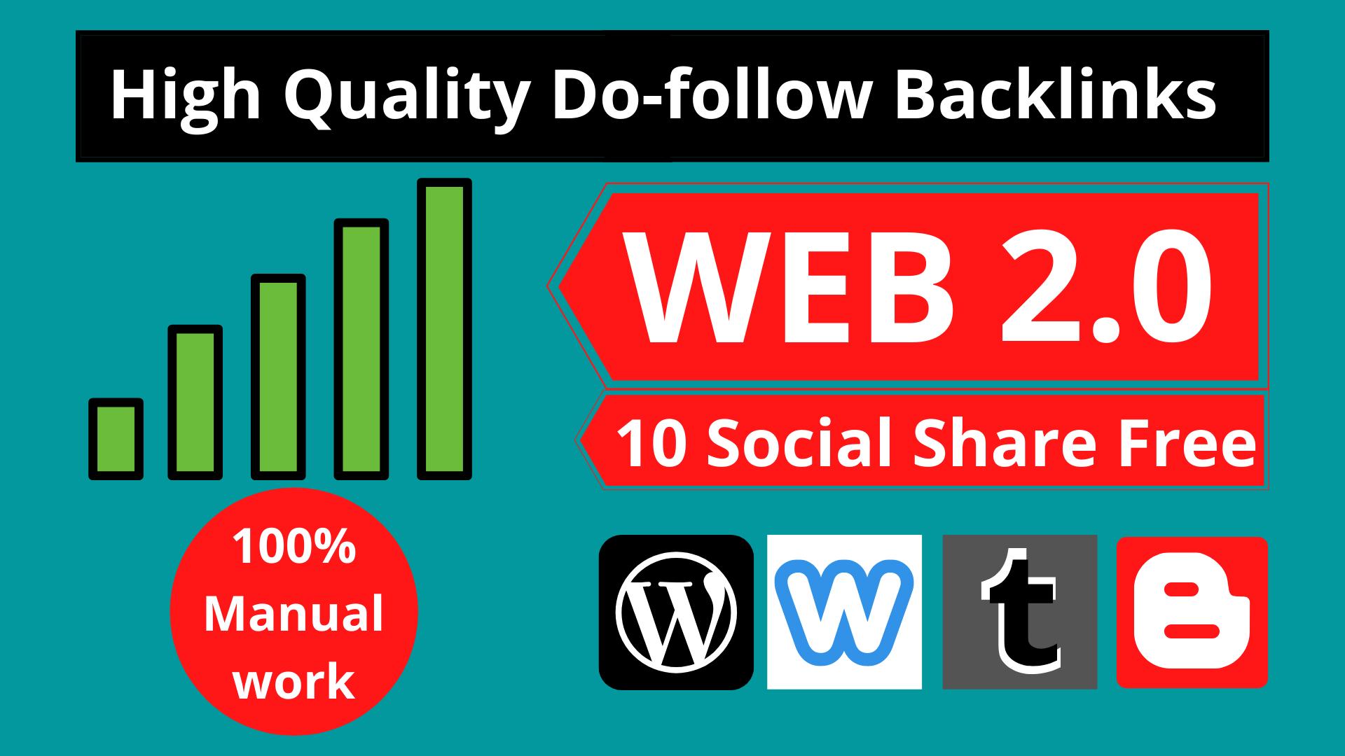 Get 15 High Quality Web 2.0 Backlink