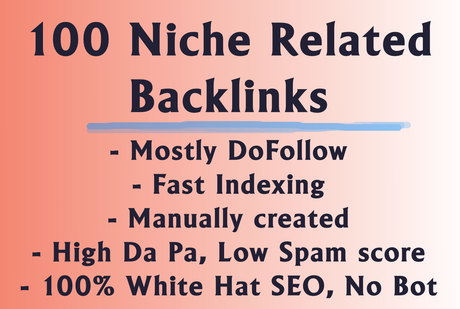 100 Niche relevant Backlinks forum and blog commenting