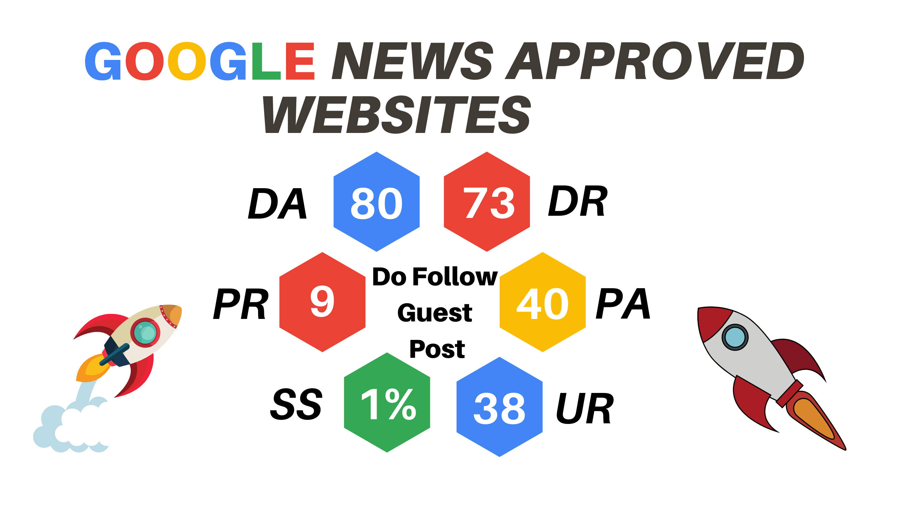 Get ONE guest post from google news approved websites to super rank your website