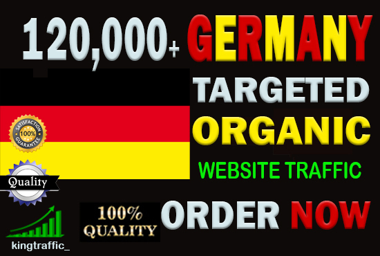 120,000 Active Quality German web visitors real targeted Genuine Organic web traffic from Germany