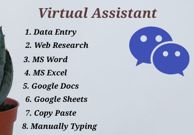 I Will create perfect Data entry,  Web research,  PDF to Excel, Word excel & copy paste