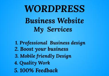 I will create best quality Wordpress Website
