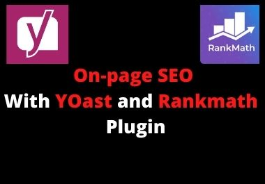 Iwill fix Onpage SEO with yoast and Rankmath plugin