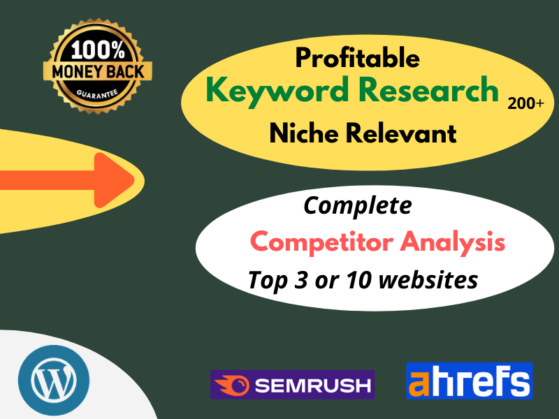 I will do Profitable Keyword Research & Complete Competitors Analysis