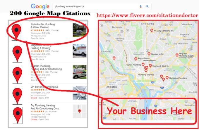 Create 2000 google maps citations for local business SEO