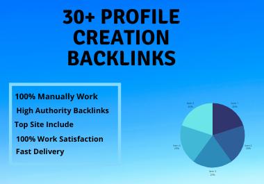I will do high DA profile backlinks for SEO ranking